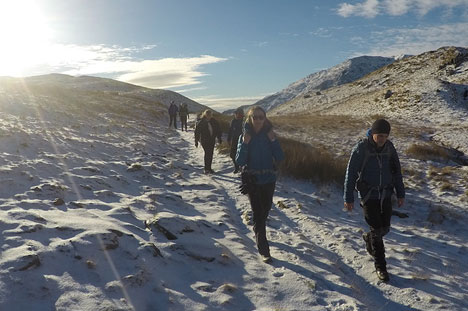 Winter Backpacking Weekend | TeamWalking