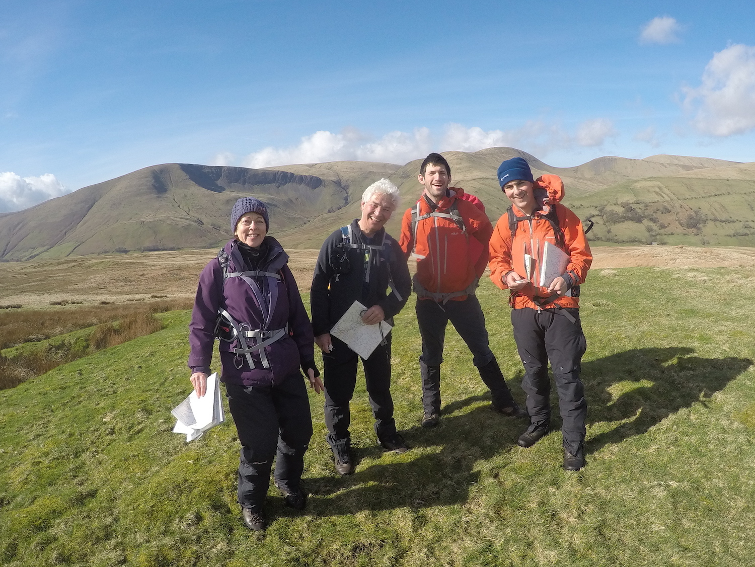 NNAS Navigation Skills courses in the Yorkshire Dales | TeamWalking | Map and Compass Skills | Hill Skills