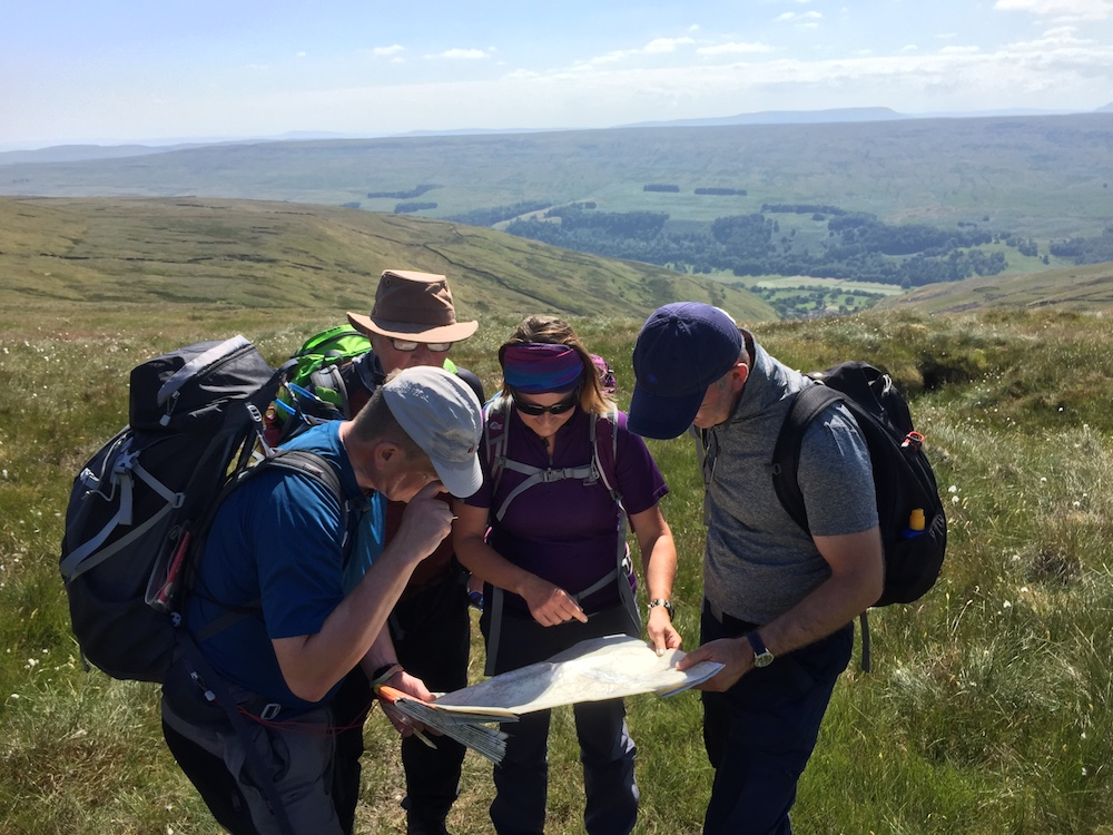 NNAS Bronze Navigation Skills courses in the Yorkshire Dales | TeamWalking | Map and Compass Skills | Hill Skills