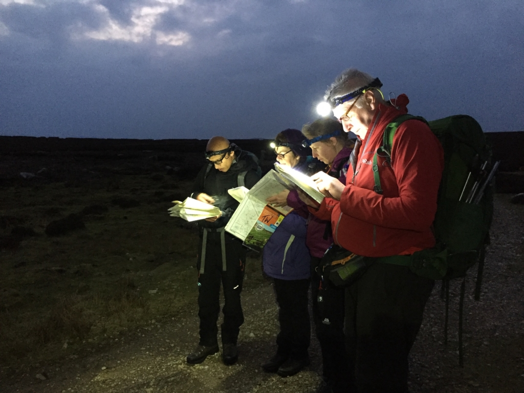 Night Navigation courses in the Yorkshire Dales | TeamWalking | Night Walks | Night Hikes