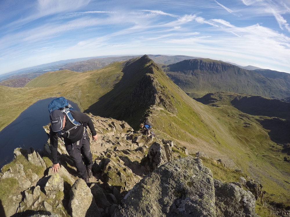 Guided Mountain Walk Helvellyn Striding Edge Lake District | TeamWalking