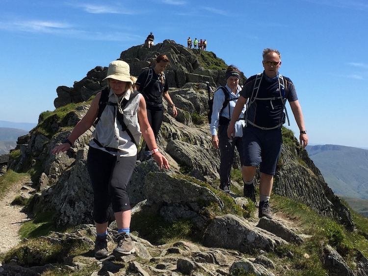 Guided Mountain Walk Blencathra Hall's Fell Ridge Lake District | TeamWalking