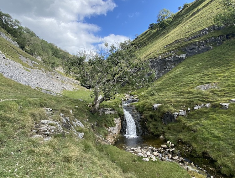 waterfalls buckden gill yorkshire dales